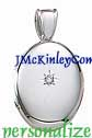 Gorgeous sterling silver oval diamond locket