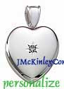 Gorgeous sterling silver diamond locket