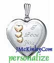 Sterling silver heart I Love You locket