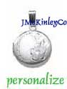 Small sterling silver round locket with flower engraveable