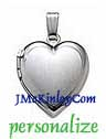 Small sterling silver locket with satin finish