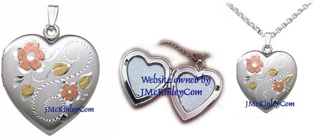 Extra large sterling silver locket tri color