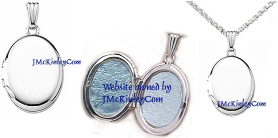 Small sterling silver plain locket