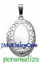 Small oval sterling silver Embossed locket