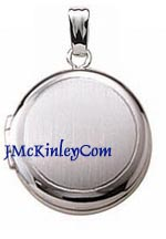 Childrens small sterling silver round locket satin finish