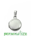Tiny sterling silver round locket