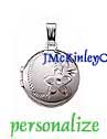Childrens small sterling silver round locket