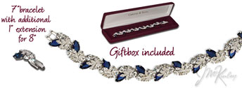 Jacqueline Kennedy Collection Engagement Bracelet with swarovski crystals  Please specify